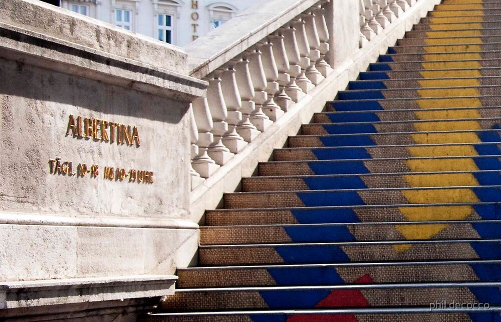 Albertina Museum Stairway by phil decocco