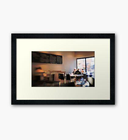Breakfast meet Framed Print