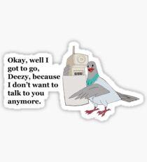 Mike Tyson Mysteries-- Pigeon Phone Sticker