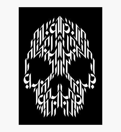 Calligraphy Skull Photographic Print