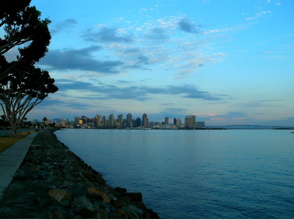 San Diego from Harbor Island by CForteography
