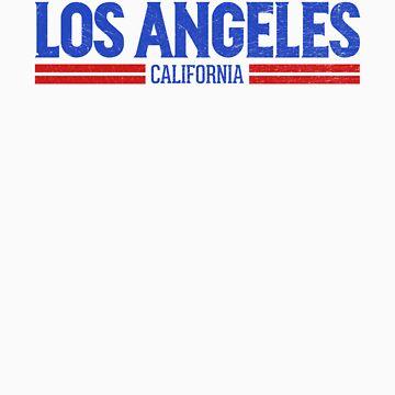 Retro Los Angeles, CA (Blue) by newdamage