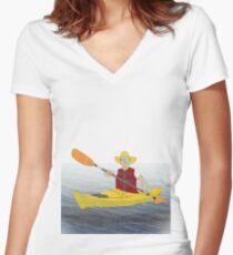 Kayak Women's Fitted V-Neck T-Shirt