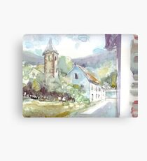 Sketch countryside plein air Canvas Print