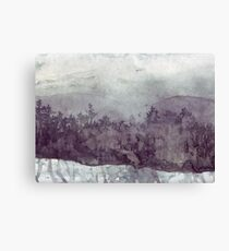 Plein Air Snow Canvas Print