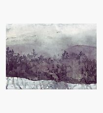 Plein Air Snow Photographic Print