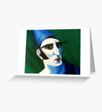 French Clown Greeting Card