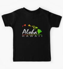 ALOHA - Hawaiian Islands (vintage distressed design) Kids Tee