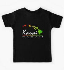 Kauai Hawaiian Islands (vintage distressed design) Kids Tee