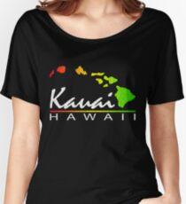 Kauai Hawaiian Islands (vintage distressed design) Women's Relaxed Fit T-Shirt