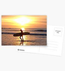 Surfer Sunset at Ballyliffen Postcards