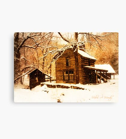 Winter Homeplace Canvas Print