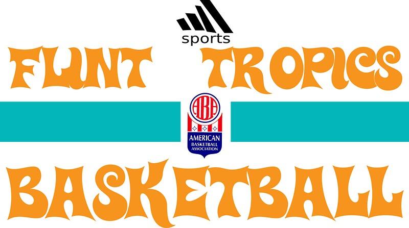"flint tropics basketball semi pro"" stickerslokki | redbubble"