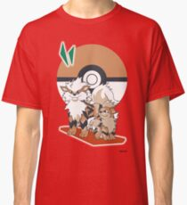 Pokemon Growlithe & Arcanine Classic T-Shirt