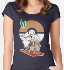 Pokemon Growlithe & Arcanine Women's Fitted Scoop T-Shirt