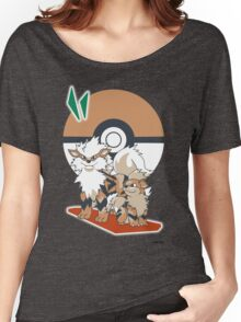 Pokemon Growlithe & Arcanine Women's Relaxed Fit T-Shirt