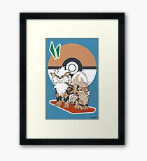 Pokemon Growlithe & Arcanine Framed Print