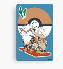 Pokemon Growlithe & Arcanine Canvas Print