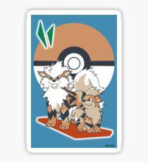 Pokemon Growlithe & Arcanine Sticker