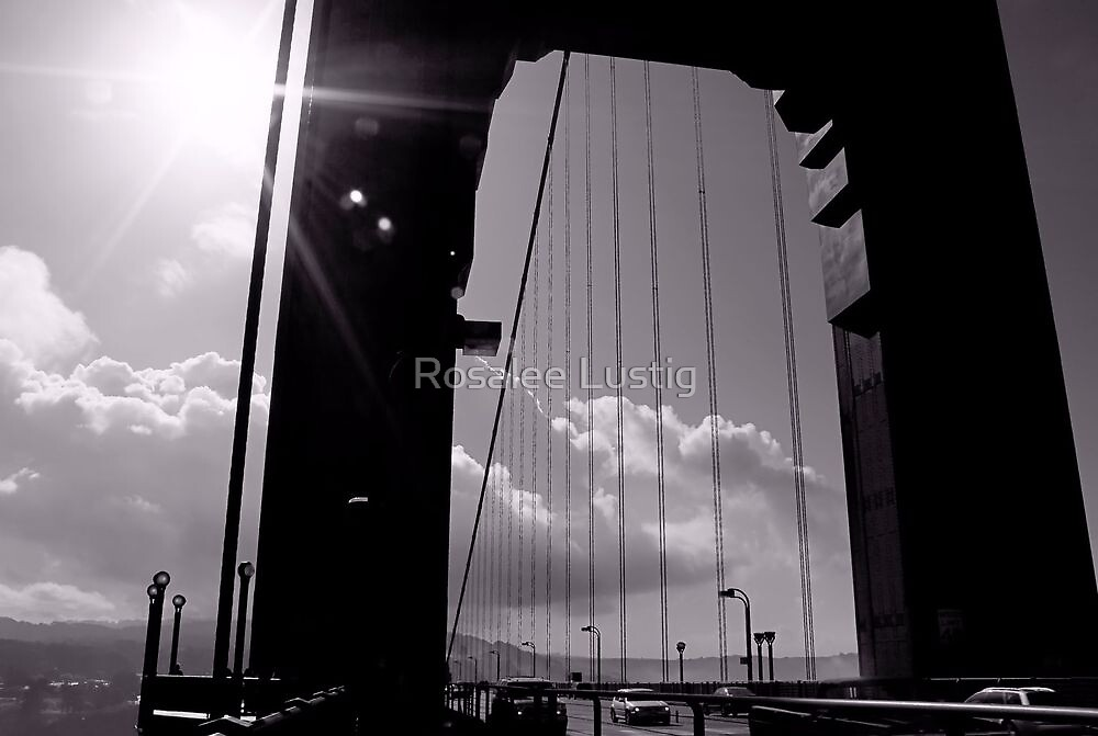 Sunburst on the Golden Gate by Rosalee Lustig