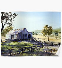 Farm Shed - Morning Light and Shadows Poster