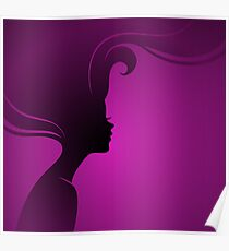 Vector illustration of Beautiful woman Poster