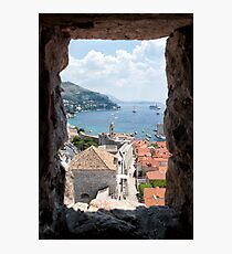 Peeking Out On the Adriatic Photographic Print
