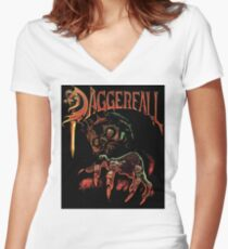 Daggerfall The Elder Scrolls Women's Fitted V-Neck T-Shirt