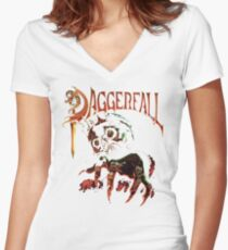 Daggerfall The Elder Scrolls 2.0 Women's Fitted V-Neck T-Shirt
