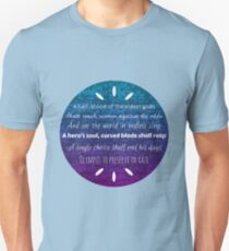 Percy Jackson Prophecy Purple and Blue Unisex T-Shirt