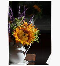 Finding Van Gogh, Twelve Sunflowers in a Vase Poster