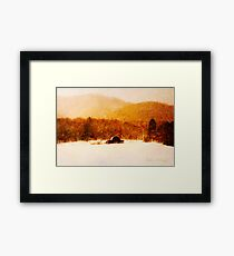 Country Snows Framed Print