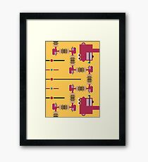The amazing Tripping-Dude-Ladder Framed Print
