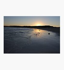 Beach Sunset Landscape Photographic Print