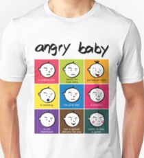Angry Baby colour blocks Unisex T-Shirt