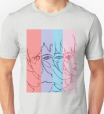 Jem and The Holograms - Group Striped - Color T-Shirt