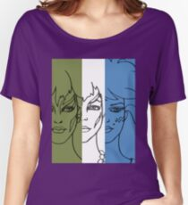 Jem and The Holograms - The Misfits Striped - Color Women's Relaxed Fit T-Shirt