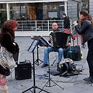 Street singer(performing in Firenze italy) by bertipictures