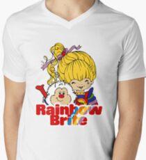 Rainbow Brite - Group - Rainbow & Twink - Large - Color Men's V-Neck T-Shirt