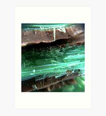 Chocolate Mint Crisp Art Print