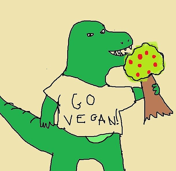 Vegan Dino by BasicGeography