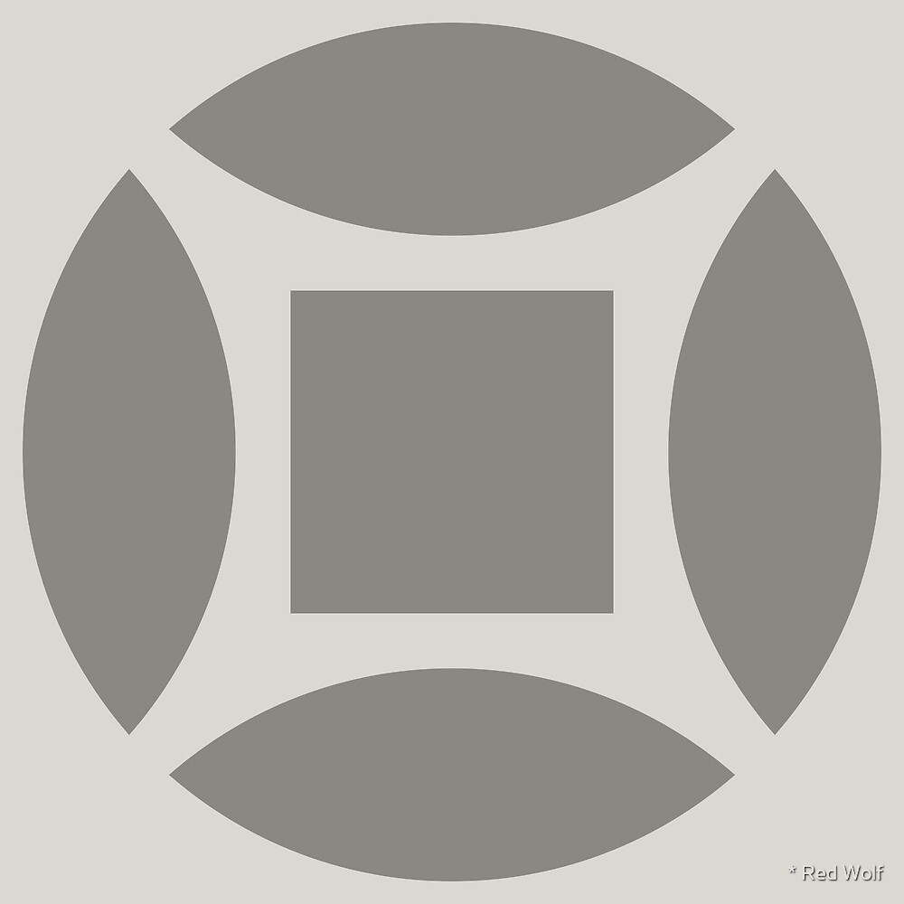 Geometric Pattern: Intersect Square: Portland by * Red Wolf