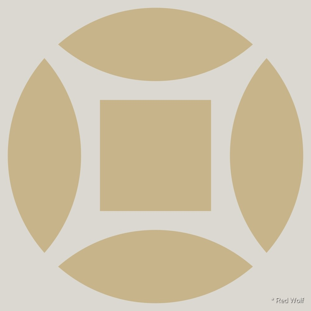 Geometric Pattern: Intersect Square: Sandstone by * Red Wolf