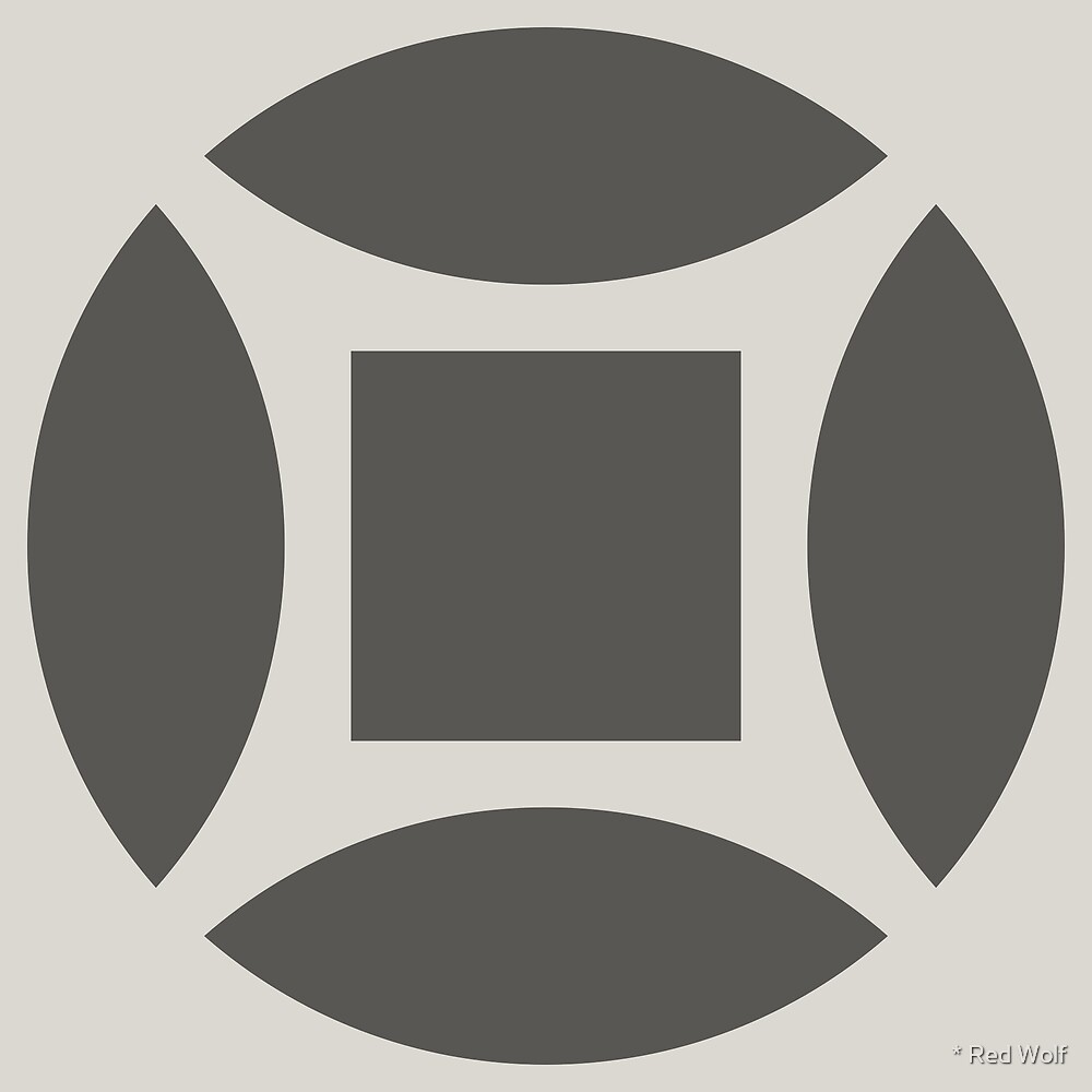 Geometric Pattern: Intersect Square: Slate by * Red Wolf