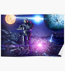 Master chief John-117 Halo rings Spartan  Poster