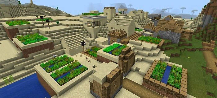 MCPE Seeds: Glitched Double Village by seedsformcpe