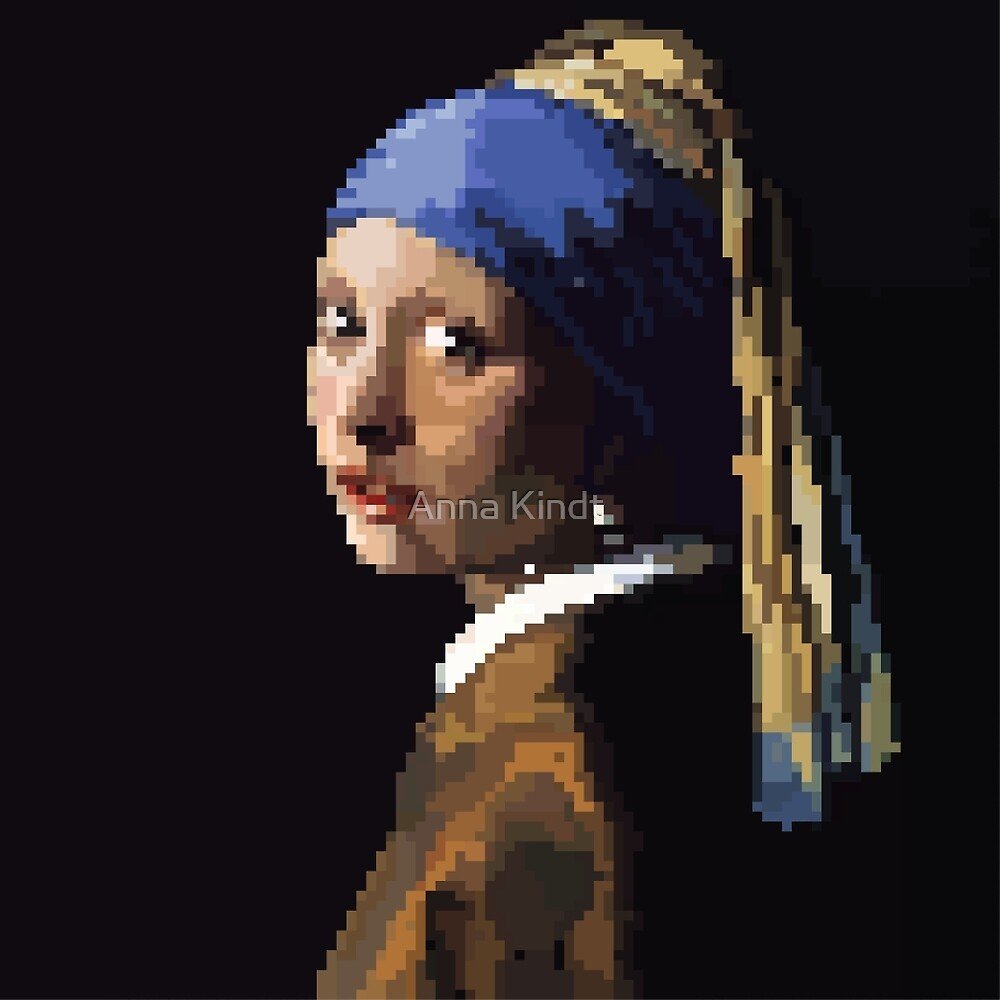 Pixel Tributes: The Girl With the Pearl Earring  by toastanimations