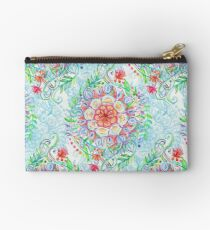 Messy Boho Floral in Rainbow Hues Studio Pouch