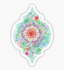 Chaotisch Boho Floral in Regenbogenfarben Sticker
