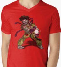 Zombie Ryu (Street Fighter) Men's V-Neck T-Shirt